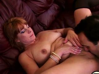 We have this naughty mature honey Calliste as she gets it